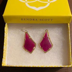 Kendra Scott Alex Gold Drop Earrings in Burgundy